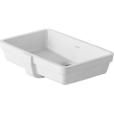 Vero Ceramic Rectangular Undermount Bathroom Sink with Overflow