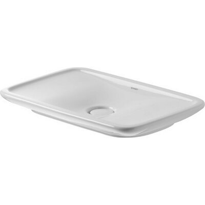 PuraVida Ceramic Rectangular Vessel Bathroom Sink with Overflow