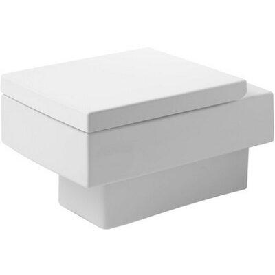 Vero Dual Flush Round Toilet Bowl Wondergliss Finish: White Alpine