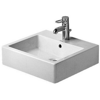 Vero Ceramic Rectangular Vessel Bathroom Sink with Overflow