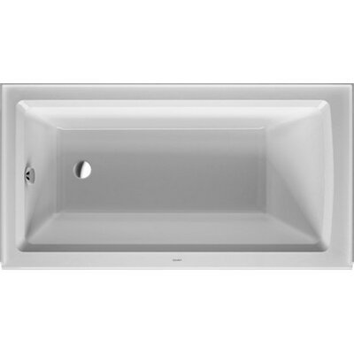 Architec 60 x 32.13 Soaking Bathtub Drain Location: Right