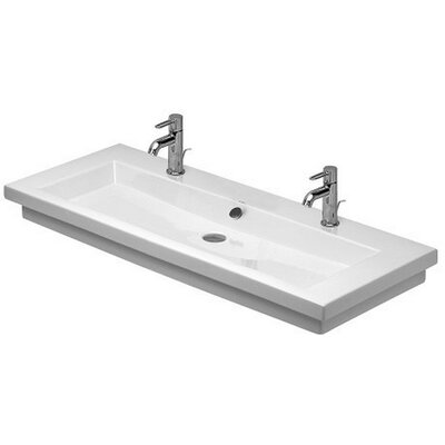 2nd Floor Ceramic 8 Wall Mount Bathroom Sink with Overflow