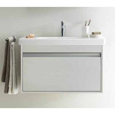 Ketho 32 Single Wall Mount Bathroom Vanity Set Base Finish: White Matte