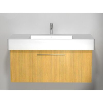 Vero 39 Single Bathroom Vanity Base Finish: Bleached Oak