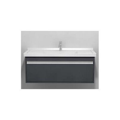Ketho 39.38 Single Vanity Set Base Finish: Graphite Matte