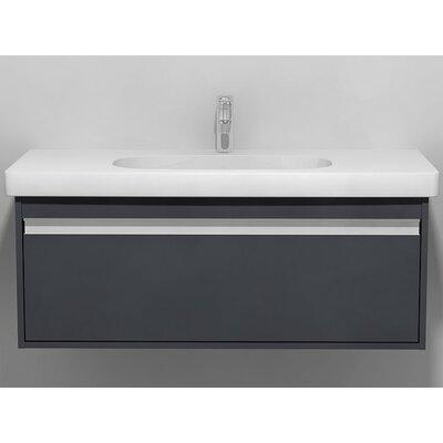 39 Single Wall Mount Bathroom Vanity Set Base Finish: Graphite Matte