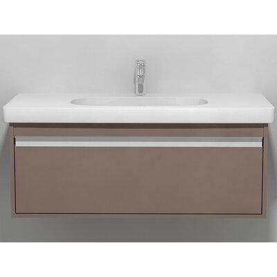 39 Single Wall Mount Bathroom Vanity Set Base Finish: Basalt Matte