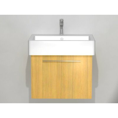 Vero 22 Wall Mounted Vanity Base Base Finish: Bleached Oak
