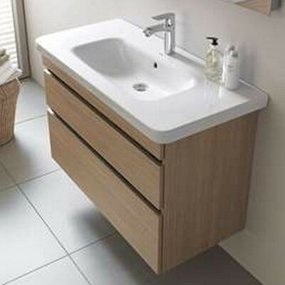 DuraStyle 22.88 Single Wall Mounted Vanity Set Base Finish: Eur Oak