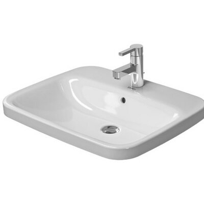 DuraStyle Vanity Rectangular Vessel Bathroom Sink with Overflow