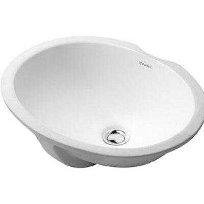 Dune Vanity Ceramic Oval Undermount Bathroom Sink with Overflow