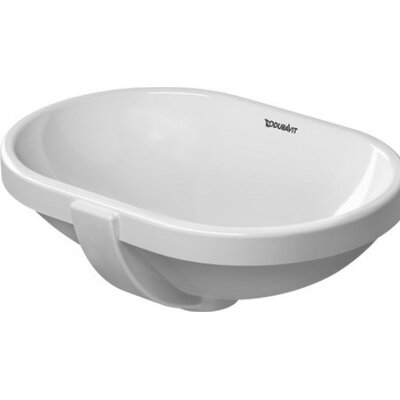 Bathroom Foster Oval Undermount Bathroom Sink with Overflow