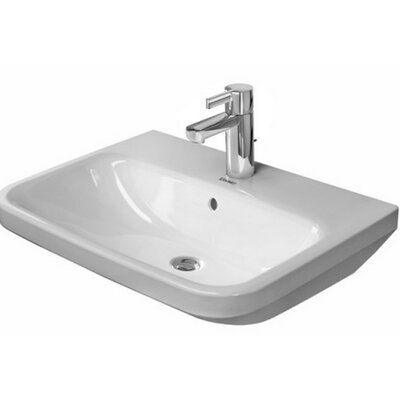 DuraStyle Ceramic 24 Wall Mount Bathroom Sink with Overflow