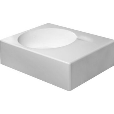 Scola Ceramic 25 Wall Mount Bathroom Sink with Overflow