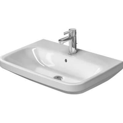 DuraStyle Ceramic 26 Wall Mount Bathroom Sink with Overflow