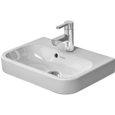 Happy D. Ceramic 20 Wall Mount Bathroom Sink with Overflow