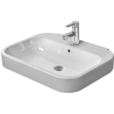 Happy D 24 Wall Mount Bathroom Sink with Overflow