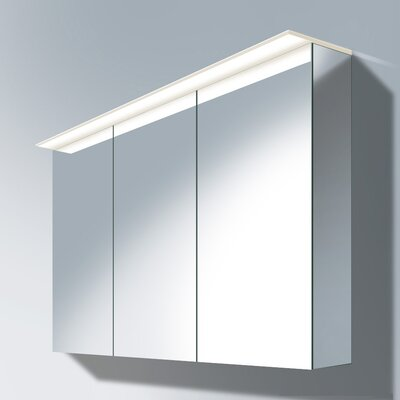 Delos 29.92 x 47.25 Surface Mounted Medicine Cabinet with LED Lighting