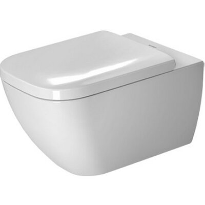 Happy D.2 Wall Mounted Washdown Rimless 1.6 GPF Elongated Toilet Bowl