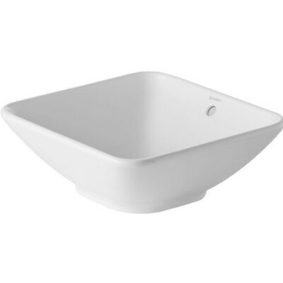 Bacino Square Vessel Bathroom Sink with Overflow
