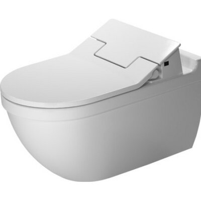 Starck Wall Mounted Durfix SensoWash Washdown 1.6 GPF Elongated Toilet Bowl