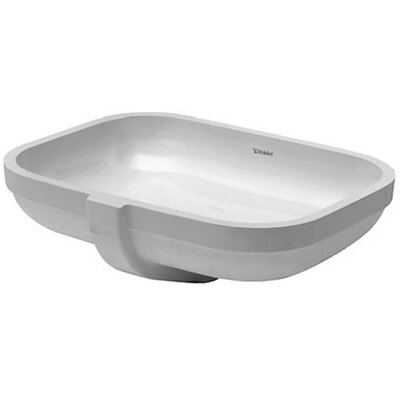 Happy D. Ceramic Rectangular Undermount Bathroom Sink with Overflow