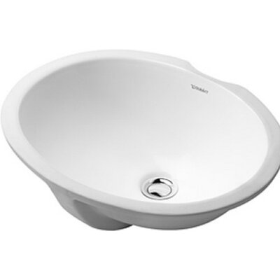 Papatya Vanity Undermount Bathroom Sink with Overflow