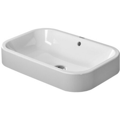 Happy D Rectangular Vessel Bathroom Sink with Overflow