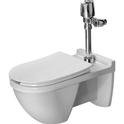 Starck 3 Wall Mounted Verio Outlet 1.28 GPF Elongated One-Piece Toilet