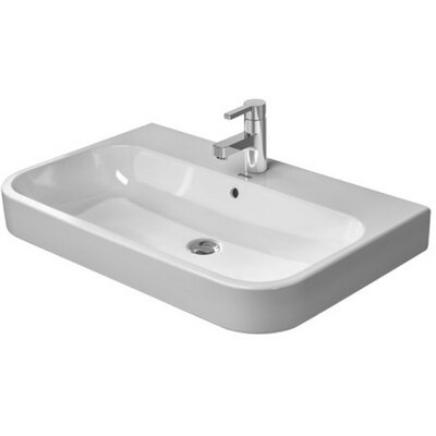 Happy D 32 Wall Mount Bathroom Sink with Overflow