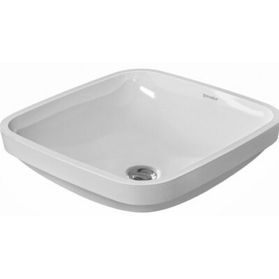DuraStyle Vanity Square Undermount Bathroom Sink with Overflow