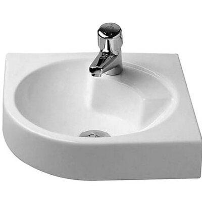 Architec Ceramic 25 Corner Bathroom Sink with Overflow