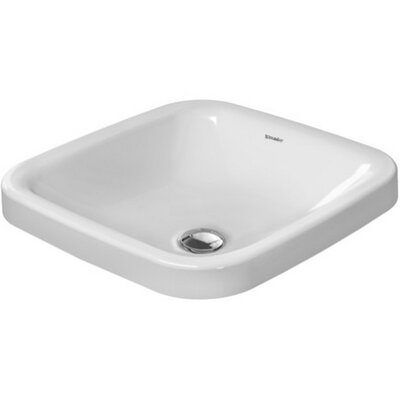 DuraStyle Ceramic Square Undermount Bathroom Sink with Overflow