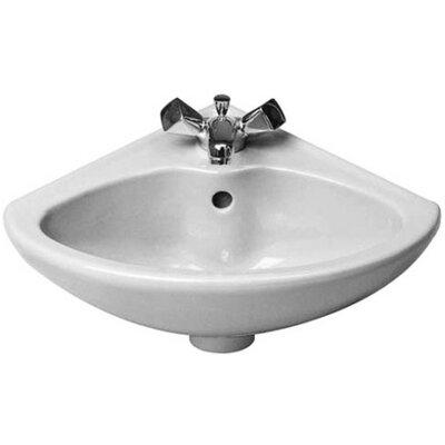 Duraplus Ceramic 18 Corner Bathroom Sink with Overflow