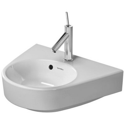 Starck Ceramic 20 Wall Mount Bathroom Sink with Overflow