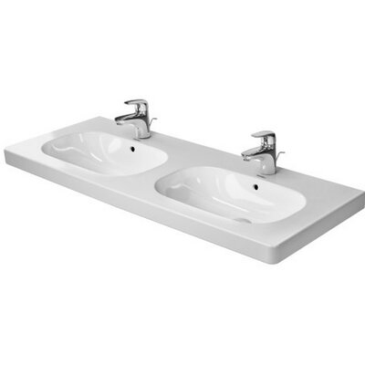 D-Code Ceramic 7 Wall Mount Bathroom Sink with Overflow