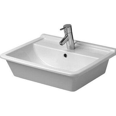Starck Ceramic Rectangular Vessel Bathroom Sink with Overflow