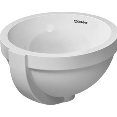 Architec Circular Undermount Bathroom Sink with Overflow