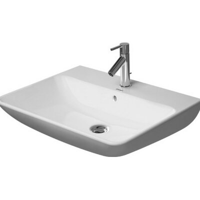 Starck Ceramic 26 Wall Mount Bathroom Sink with Overflow