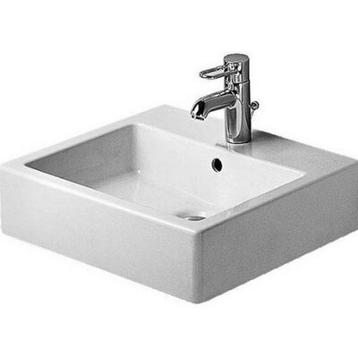 Vero Ceramic 20 Wall Mount Bathroom Sink with Overflow