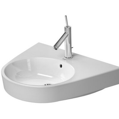 Starck 26 Wall Mount Bathroom Sink with Overflow