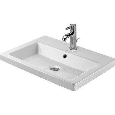 Vanity Rectangular Vessel Bathroom Sink with Overflow