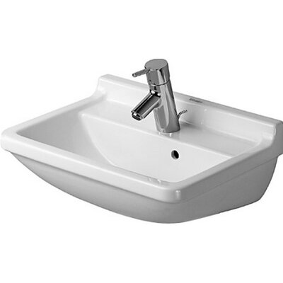 Starck 20 Wall Mount Bathroom Sink with Overflow