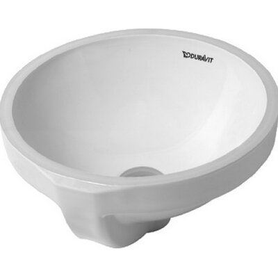 Architec Ceramic Circular Undermount Bathroom Sink with Overflow