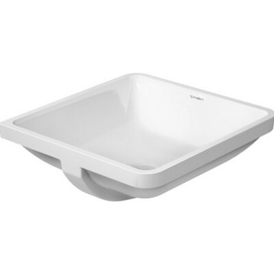 Starck Ceramic Square Undermount Bathroom Sink with Overflow
