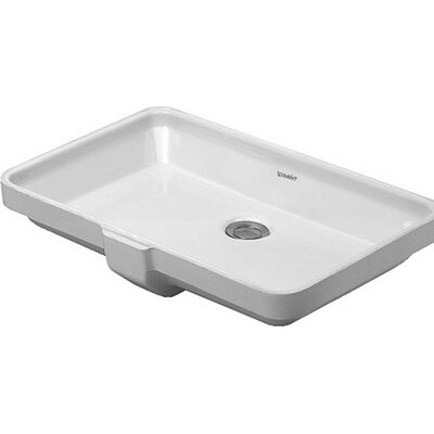 Vanity Rectangular Undermount Bathroom Sink with Overflow