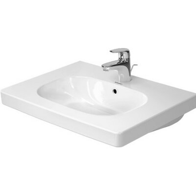 D-Code Ceramic 26 Wall Mount Bathroom Sink with Overflow