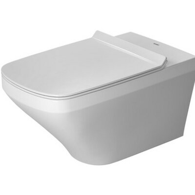 DuraStyle Wall Mounted Washdown Model Rimless Dual Flush Elongated Toilet Bowl