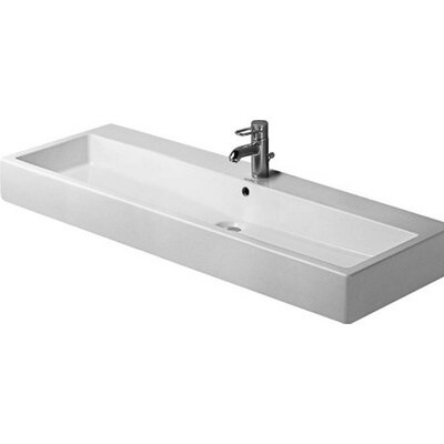 Vero Ceramic 7 Wall Mount Bathroom Sink with Overflow