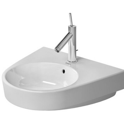 Starck Ceramic 22 Wall Mount Bathroom Sink with Overflow